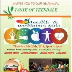 Taste of Teesdale Health & Wellness Fair at Warden Woods Community Centre