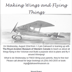 What to do Wednesdays: Making Wings and Flying Things