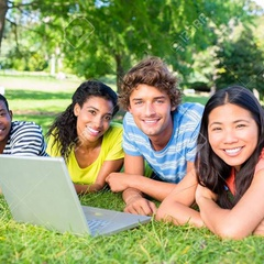 Sit On Grass With Multicultural Uni Friends But @ Mcmaster