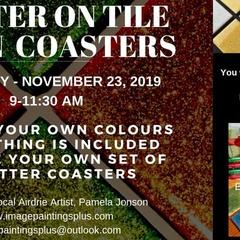 Glitter on Tile Coasters Workshop