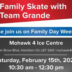 Family Day Skate with Team Grande!