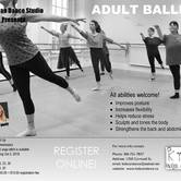 Adult Ballet Fall Sessional class at Kids Can Dance