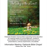 Information Session - Classical Christian learning at home with Classical Conversations