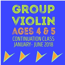 Winter 2018 Group Violin  Ages 4-5 (Continuation Class)