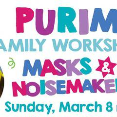 Purim Family Workshop - Masks & Noisemakers
