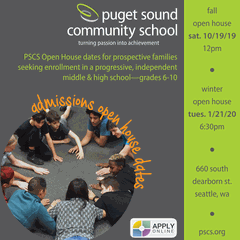 Puget Sound Community School Fall Open House