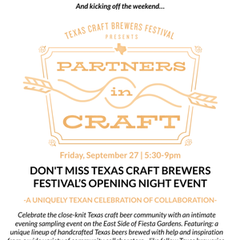 Partners in Craft: Texas Craft Brewers Festival Kickoff Event