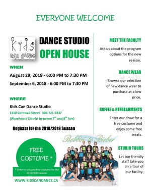 Dance Studio Open House at Kids Can Dance