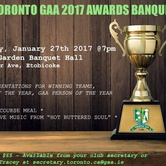 Toronto GAA 2017 Awards Banquet