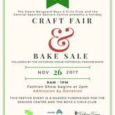 Central Saanich Holiday Craft Fair & Bake Sale