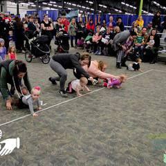 Baby Crawl at the Saskatoon Family Expo