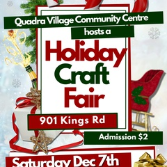 Quadra Village Community Centre Annual Holiday Craft Fair