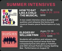 MUSICAL THEATRE SUMMER INTENSIVES!  Middle School and High School Performers!