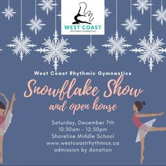 West Coast Rhythmic Gymnastics Annual Snowflake Show
