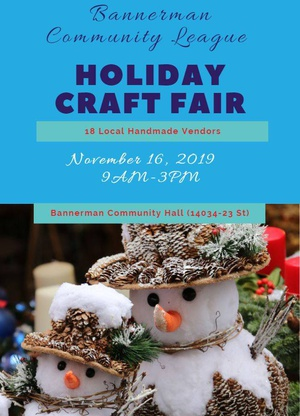 Bannerman Community League Holiday Craft Fair