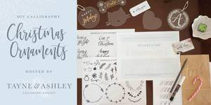 DIY Christmas Calligraphy Ornaments