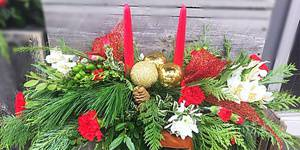 DIY: Christmas centrepieces