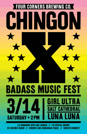 Four Corners Brewing Co. Presents ChingonX Music Festival