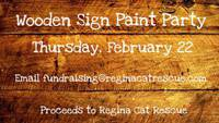 Wooden Sign Paint Party