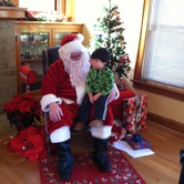 Santa Comes To The Overlook House in North PDX