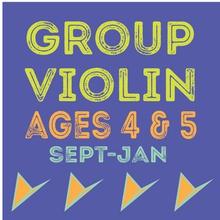 Group Violin: Children ages 4&5 explore the fundamentals of violin