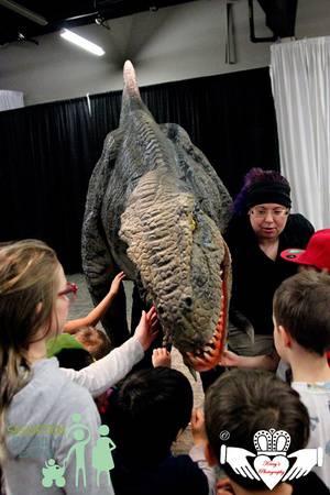 Velociraptor Walk at the Saskatoon Family Expo