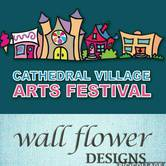 Cathedral Village Arts Festival - Booth 705 wall flower designs