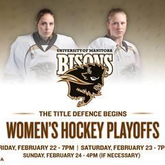 University of Manitoba Bisons Women's Hockey Playoffs