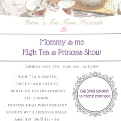 Mommy and Me High Tea with Belle!