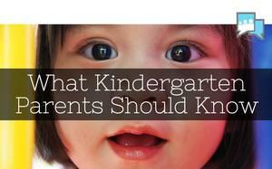 What Kindergarten Parents Should Know