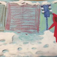 MakerSpace Open Studio | Snowy Puff Paintings