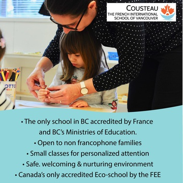 Cousteau - The French International School of Vancouver's promotion image