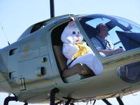 Easter Bunny Arrives by Helicopter