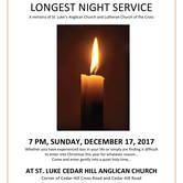 Longest Night Service at St. Luke Cedar Hill