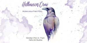 Halloween Crow - Watercolour Paint Party
