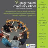 Puget Sound Community School Fall Open House