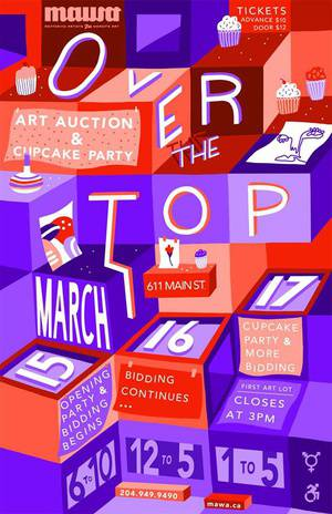 Over the Top Art Auction and Cupcake Party