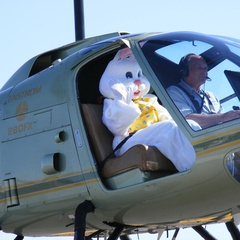 Easter Bunny by Helicopter