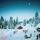 Peak of Christmas at Grouse Mountain