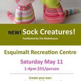 Sock Creatures at Esquimalt Rec