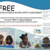 Free Water Safety and Swim Evaluation