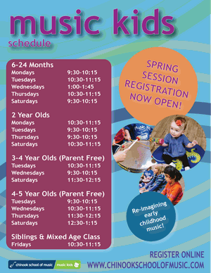 Music Kids Spring Session - Ages 6 months to 5 years (Various class times)