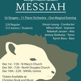 Vancouver Island Performers Guild Presents Handel's Messiah