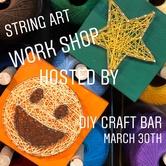 String art Pop up Work Shop at the Forks Market