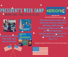 President's Week Camp