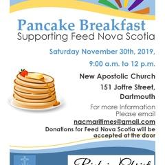 Pancake Breakfast Supporting Feed Nova Scotia