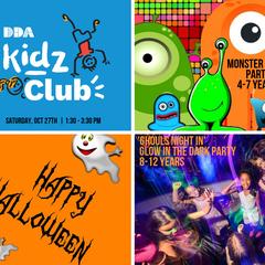 DDA Kidz Club Halloween Parties (Ages 2-7 & 8-12)