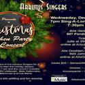 Arbutus Singers Christmas and Carol Sing