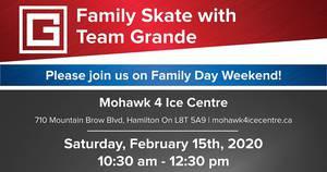 Family Day Skate with Team Grande!