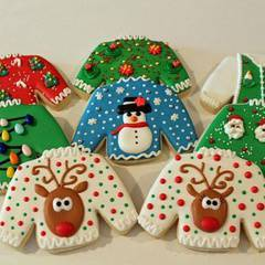 Ugly Sweater Cookie Decorating contest